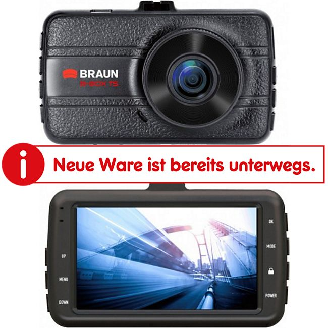 Braun B-BOX T5 Dashcam, Full HD Car DVR - Bild 1